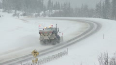Snow Plow c 03 - stock footage
