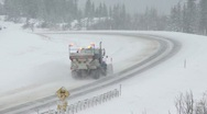 Snow Plow c 03 Stock Footage