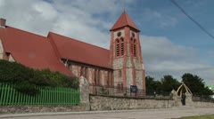 Christ Church Port Stanley Stock Footage
