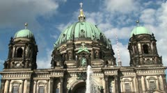 Cathedral church in Berlin - stock footage