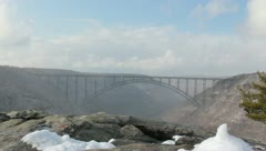 New River Gorge Bridge WV Stock Footage