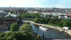 Kind of bird's-eye view of Berlin Stock Footage