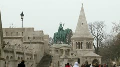 Walking at historical part of Budapest. Buda, Downtown. Stock Footage