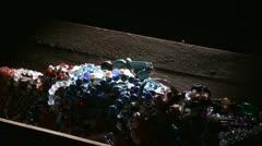 Jewelry in chest, burglar, dark Stock Footage