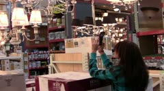 Shopping For Lighting Stock Footage