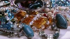 Jewelry, camera dolly Stock Footage