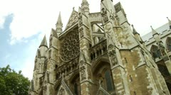 Westminster Abbey, City of London  Stock Footage
