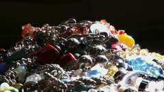 Jewelry, camera dolly, hard light Stock Footage