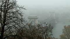 Chain bridge over the Danube Stock Footage