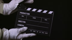 Clapperboard, take 3 Stock Footage