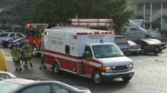 Ambulance & Fire Engine Stock Footage