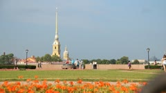Peter and Paul Fortress Stock Footage