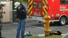 Fire Scene Stock Footage