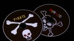 Broken pirated disc Stock Footage