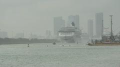 Norwegian Cruise Line Passenger ship Stock Footage