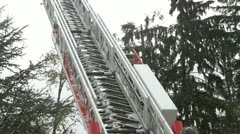 Fire Engine Ladder (moving) Stock Footage