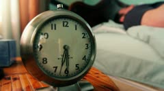 Wake Up Alarm Clock Stock Footage
