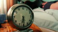 Wake Up Alarm Clock Stock Footage