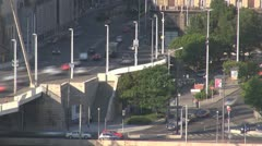 Timelapse Big traffic in Budapest, Hungary Stock Footage