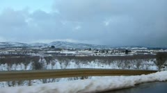 Golan snow drive 3 Stock Footage