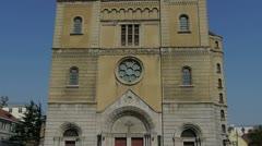 Panoramic of Qingdao Catholic Church. Stock Footage