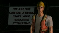 Unemployed laborer Stock Footage