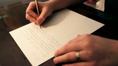 Writing a Letter Stock Footage