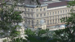 Big traffic in Budapest, Hungary Stock Footage