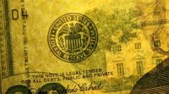 Watermark on the US Twenty Dollar Bill - stock footage