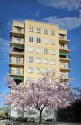apartment building - stock photo