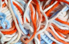 Close up photo of yarn Stock Photos