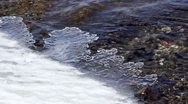 Formation of ice on a river Stock Footage