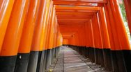 Stock Video Footage of Fushimi-inari shrine