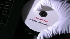 Stock Video Footage of Top secret disc, strictly confidential