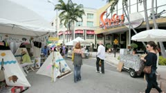 Stock Video Footage of South Miami Arts Festival and Sunset Place Promenade