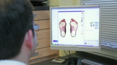 Foot scanner PC Stock Footage