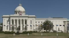 Stock Video Footage of Alabama state capitol