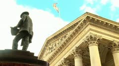 London Bank of England Close up Stock Footage
