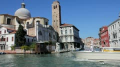 Boat Ride through Venice, Italy Stock Footage