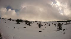 Golan hights snow 7 - stock footage
