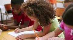 Pupils working together Stock Footage