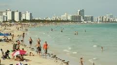 South Beach Ocean Shoreline Stock Footage