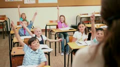 Teacher choosing a pupil Stock Footage