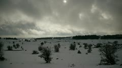 Golan hights snow 6 Stock Footage