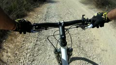 415 GoPro, mountain biking in israel - stock footage