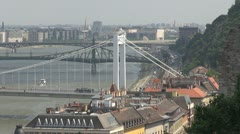 The famous bridges in Budapest, Hungary Stock Footage