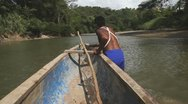 Stock Video Footage of Pulling The Canoe