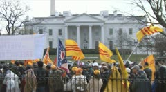 Vietnamese immigrants hold a protest Stock Footage