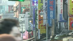Busy street in dowtown taipei Stock Footage