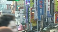 Stock Video Footage of Busy street in dowtown taipei